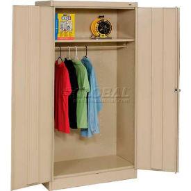 Tennsco Standard Wardrobe Cabinet 1471-SND - 36x18x72 Sand Unassembled