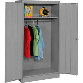 Tennsco Standard Wardrobe Cabinet 1471-MGY - 36x18x72 Medium Grey Unassembled