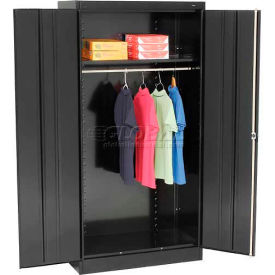 Tennsco Standard Wardrobe Cabinet 1471-BLK - 36x18x72 Black Unassembled