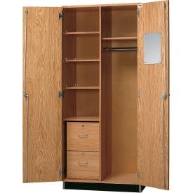 "Diversified Woodcrafts Wood Wardrobe Cabinet 360-3622 - 36""W x 22""D x 84""H"