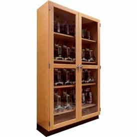 "Diversified Woodcrafts Wood Clear Door Storage Cabinet 358-3622 - 36""W x 22""D x 84""H"