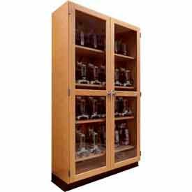 "Diversified Woodcrafts Wood Clear Door Storage Cabinet 358-4822 - 48""W x 22""D x 84""H"