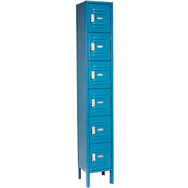 Infinity™ Locker Six Tier 12x18x12 6 Door Assembled Blue