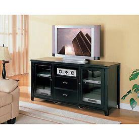 Tribeca Loft Tall TV Console Black
