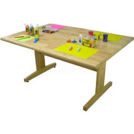 """Art and Projects Table, 42"""" x 72"""" Hardwood Top"""