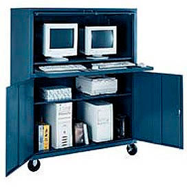 Edsal - Mobile Double Wide Computer Cabinet