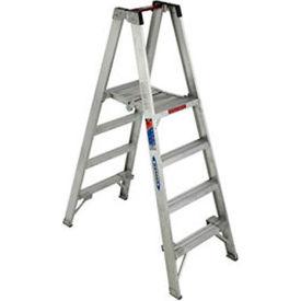 Werner 4' Type 1A Aluminum Dual Access Platform Ladder - PT374
