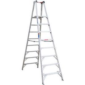 Werner 8' Type 1A Aluminum Dual Access Platform Ladder - PT378