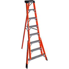 Werner 8' Fiberglass Tripod Step Ladder - FTP6208