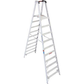 Werner 10' Type 1A Aluminum Dual Access Platform Ladder - PT310
