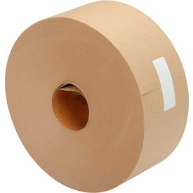 """Kraft Water Activated Tape 3"""" x 600' 5 Mil Tan - Pkg Qty 10"""