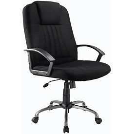 Full Size Executive Chair, Fabric - Black
