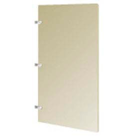 "Plastic Laminate Urinal Screen - 18"" W x 42"" H Almond"