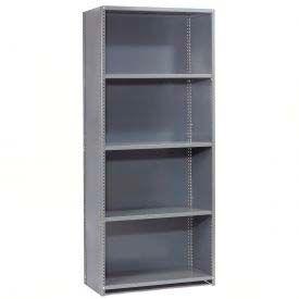 """Global Steel Shelving 18 Ga 36"""" Wx12"""" Dx97"""" H Closed Clip 5 Shelves Starter"""