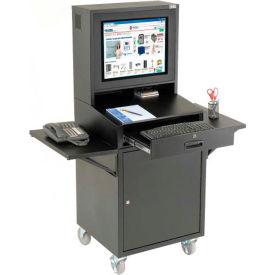 Mobile Security LCD Computer Cabinet Enclosure Complete Bundle - Black