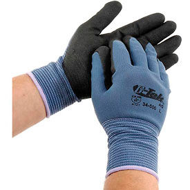 PIP G-Tek® Nitrile MicroSurface Nylon Grip Gloves, 12 Pairs/Dozen, Large