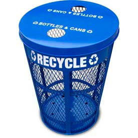 Outdoor Expanded Metal Recycling Receptacles