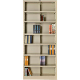"All Steel Bookcase 7 Openings 36"" W x 12"" D x 84"" H Putty"