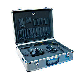"Aluminum Tool Case With Foam - Vestil CASE-1814-FM 18"" x 14"" x 6"""