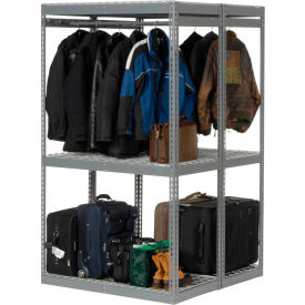 "Boltless Luggage Garment Combo Rack - 48""W x 48""D x 84""H"