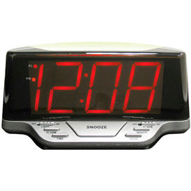"1.8"" Red LED Alarm Clock with Nightlight"