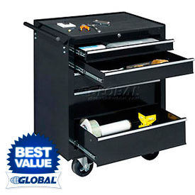 """Global™ Industrial 27"""" 5-Drawer Roller Tool Cabinet W/ Ball Bearing Slides"""