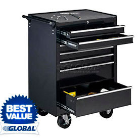 """Global™ Industrial 27"""" 7-Drawer Roller Tool Cabinet W/ Ball Bearing Slides"""