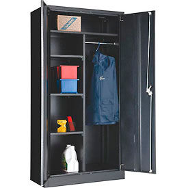 Paramount™ Combination Cabinet Easy Assembly 36x18x72 Black