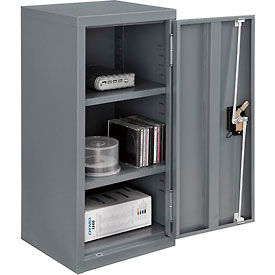 "Global™ Wall Storage Cabinet Assembled 13-3/4""W x 12-3/4""D x 30""H Gray"
