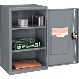 "Global™ Wall Storage Cabinet Assembled 19-7/8""W x 14-1/4""D x 32-3/4""H Gray"