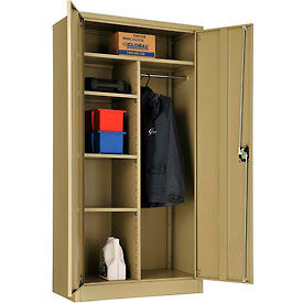 """Global™ Combination Cabinet Easy Assembly 36""""W x 18""""D x 72""""H Tan"""