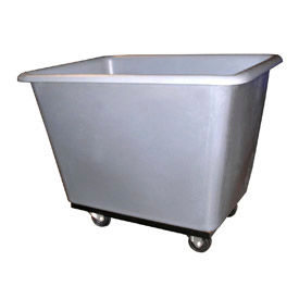 Bayhead Products Gray Poly Box Truck 7 Bushel Capacity