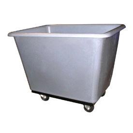 Bayhead Products Gray Poly Box Truck 7 Bushel Capacity