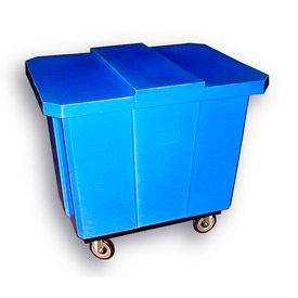 Bayhead Products Blue Poly Box Truck 14 Bushel Capacity
