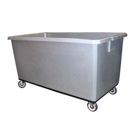 Bayhead Products Gray Poly Box Truck 22 Bushel Capacity