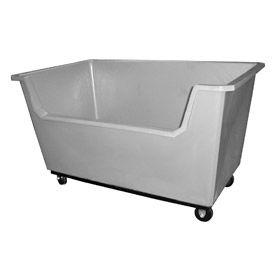 Bayhead Products Gray Poly Box Truck 30 Bushel Capacity