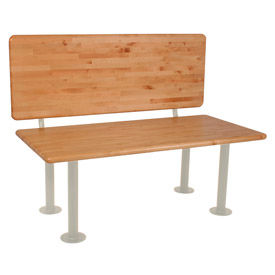 "ADA Locker Room Bench With Seat, Back and Pedestal 42""W x 24""D x 17-1/4""H"