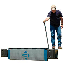 "Bluff® EZ-Pull Mechanical Edge of Dock Leveler 25EP78 78"" Usable W 25,000 Lb. Cap."