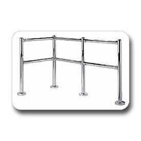 VersaCart® 5'x6' Indoor Corral 2-End & 2-Corner Posts, 2-5' & 4-6' Rails, 16-Anchors