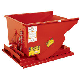 Modern Equipment MECO SDHM100 1 Cu. Yd. Orange Medium Duty Hopper