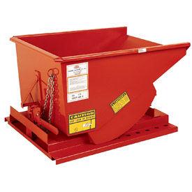 Modern Equipment MECO SDHX075 3/4 Cu. Yd. Orange Extra Heavy Duty Hopper