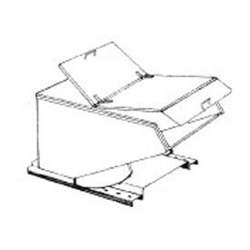 Type C Hinged Lid for MECO 1/3 Cu. Yd. Hopper