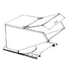Type A Hinged Lid for MECO 1 Cu. Yd. Hopper