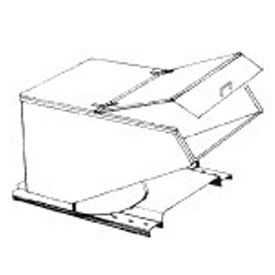 Type A Hinged Lid for MECO 1/4 Cu. Yd. Hopper