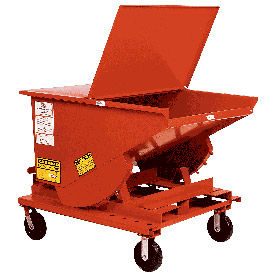 6 x 2-1/2 MORT Caster Kit for MECO Self Dumping Hoppers