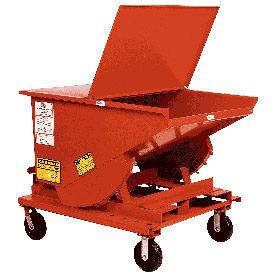 6 x 2-1/2 Steel Caster Kit for MECO Self Dumping Hoppers
