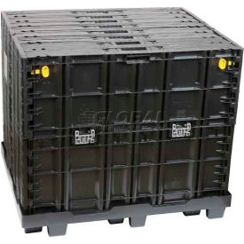 """Buckhorn Maximizer Collapsible Container System GL4840412010100 - 48"""" x 40"""" x 41"""", Black"""