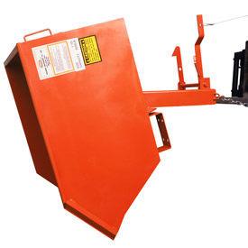 Modern Equipment MECO SDHX100-90 Series 90 1 Cu. Yd. Gray Extra Heavy Duty Self-Dumping Hopper