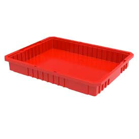 Akro-Mils Akro-Grid Dividable Container 33223 22-1/2 x 17-3/8 x 3 Red - Pkg Qty 6