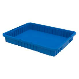 Akro-Mils Akro-Grid Dividable Container 33223 22-1/2 x 17-3/8 x 3 Blue - Pkg Qty 6